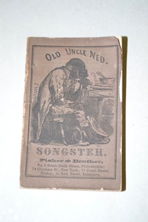 Online auction of a minstrel songbook, available for hundreds of dollars.