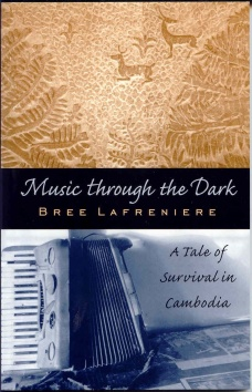 Book Cover, with Cambodian designs, and worn accordion (not the one Kravanh found)