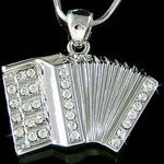 brooch - swarovski accordion