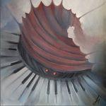 painting - devilish accordion