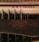 Antique Piano Accordion - Stamped inscription on bass machine