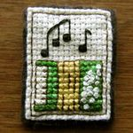 accessories - crossstitch pin