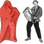 stamp accordion man