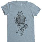 accordion wolf t-shirt