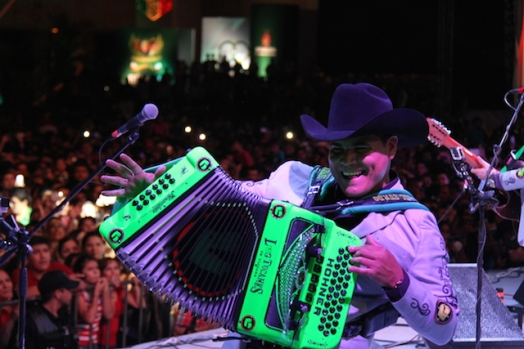 Alfredo Gonzalez from Los Tucanes de Tijuana (very cool black-light accordion)