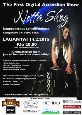 Netta Skog %22First Digital Accordion Show%22 Feb, 2015