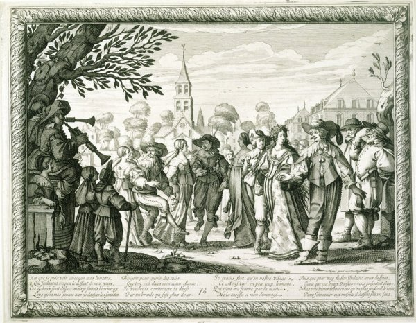 The Village Dance, from The Country Marriage, Engraving by Abraham Bosse, France, 1633.