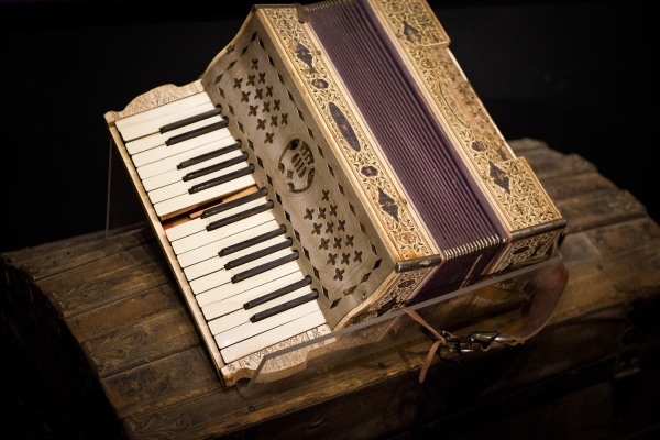 Accordion from the Old Log Church Museum in Whitehorse, Yukon Territory, Canada
