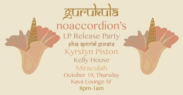NoAccordion promo for her album release, version of her Gurukula record cover