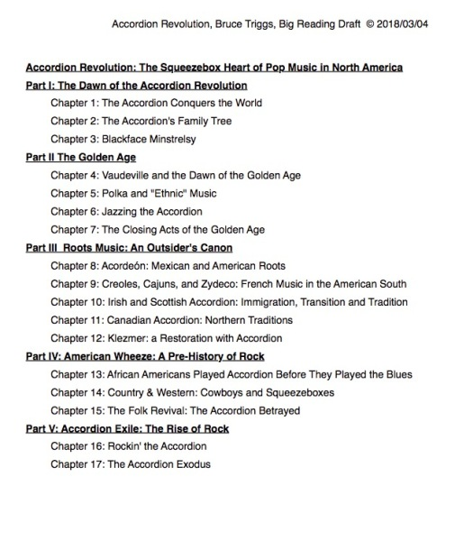 Accordion Revolution Table of Contents