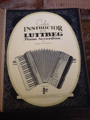 Instruction book for the Luttbeg piano-bass keyboard accordion ($1)