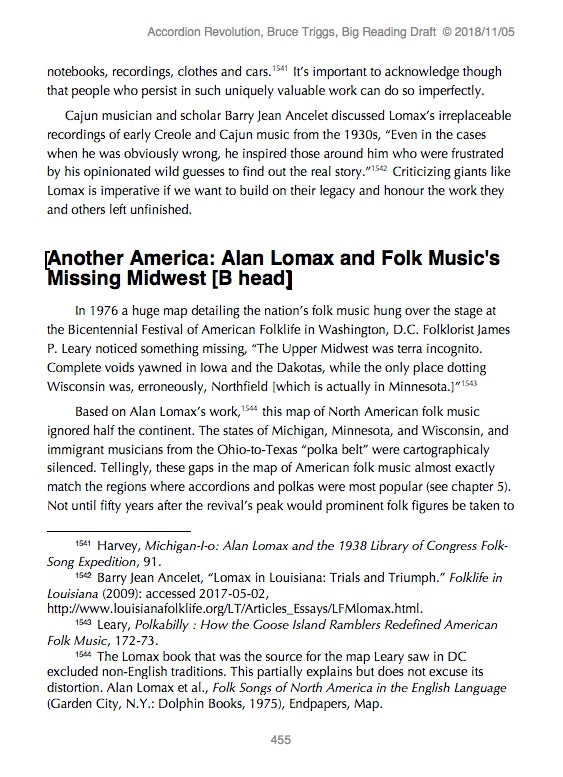 "Unformatted version of Accordion Revolution. The page numbers are different for different versions, but it show much of the same section, ""Another America: Folk Music's Missing Midwest."" (See the end of this post for link to .doc version of this page.)"