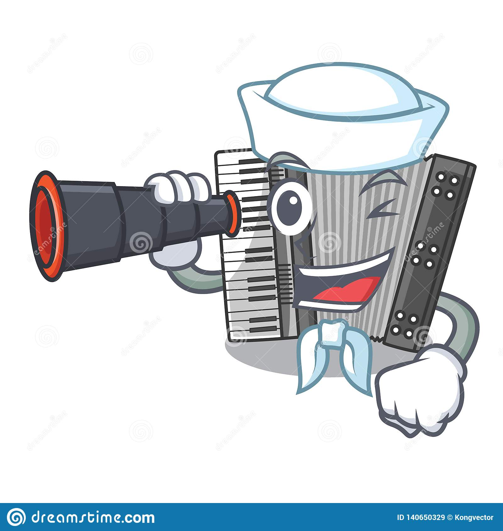 sailor-binocular-miniature-accrodion-shape-mascot-vector-illustrattion-140650329